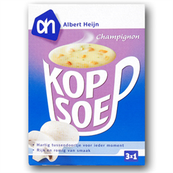 zz A.H. Cup A Soup Mushroom 3 pouchs ( 1 Kopsoep Champignon )