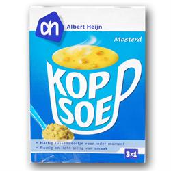 zz A.H. Cup A Soup Mustard 3 pouchs ( 1 Kopsoep Mosterd )
