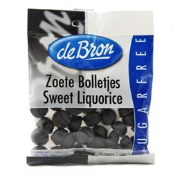 DEBRON SUGAR FREE Licorice Globe Sweet 100g Gluten Free
