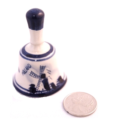 DELFT BLUE Dinner Bell with stem