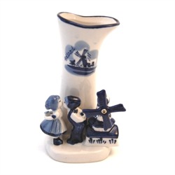 DELFT BLUE Vase with Couple & Mill
