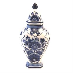 DELFT BLUE Vase with Lid 24cm Flower