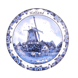 DELFT BLUE Wall Plate Goose