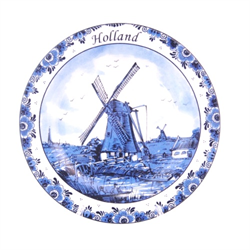 DELFT BLUE Wall Plate Fisherman