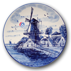 DELFT BLUE Wall Plate Mill 20cm