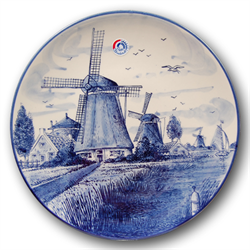 DELFT BLUE Wall Plate Mill 26 cm