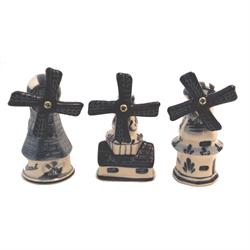 DELFT BLUE Windmill - 3 pc set