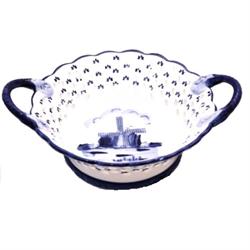 DELFT BLUE Bowl/Basket w/ Handles- Mill 18cm