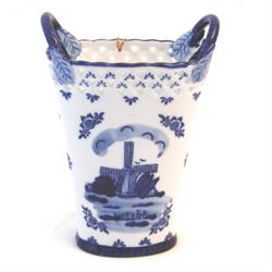 DELFT BLUE Vase w/ Handles- Mill 17cm