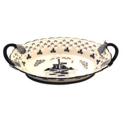 DELFT BLUE Bowl/Dish Oval w/Handles - Mill 21cm