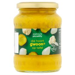 GWOON Relish ( Piccalilly zoetzuur ) 330g Jar